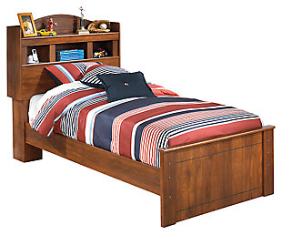 Barchan Twin Bookcase Bed, Medium Brown, large