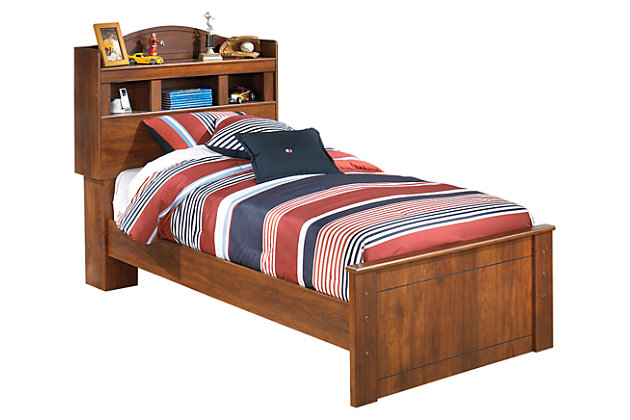 Brown Barchan Twin Bookcase Bed by Ashley HomeStore