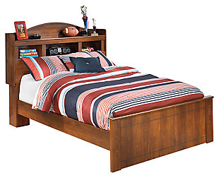 Barchan Full Bookcase Bed, Medium Brown, large
