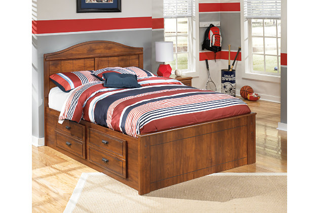 Barchan Full Panel Bed with Storage Medium Brown large ...  sc 1 st  Ashley Furniture : bedding storage furniture  - Aquiesqueretaro.Com