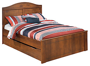 Barchan Full Panel Bed with Trundle, Medium Brown, large