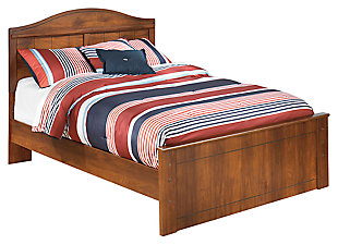 Barchan  Full Panel Bed, Medium Brown, large