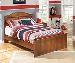 Barchan Full Panel Bed, Medium Brown, rollover