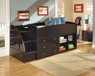 Embrace Twin Loft Bed with Right Steps, , large