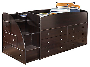Embrace Loft Storage Bed with Left Steps, , large