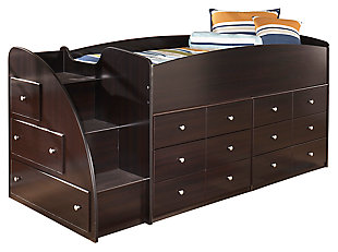 Embrace Loft Storage Bed with Right Steps, , large