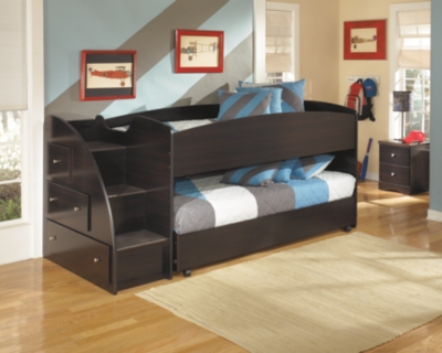 Embrace Loft Bed with Caster and Right Steps, , large