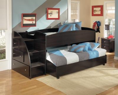 Ashley Loft Bed Caster Left Steps Embrace
