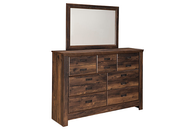 Brown Quinden Dresser and Mirror by Ashley HomeStore