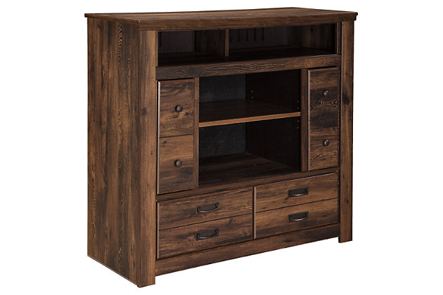 Brown Quinden Media Chest by Ashley HomeStore