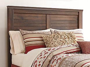 Quinden Queen Panel Headboard, Dark Brown, rollover