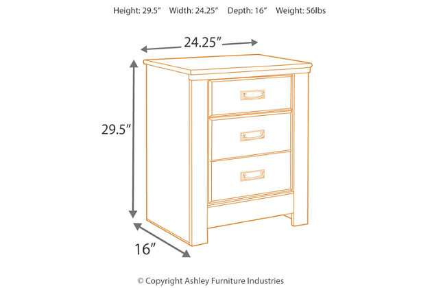 quinden nightstand | ashley furniture homestore