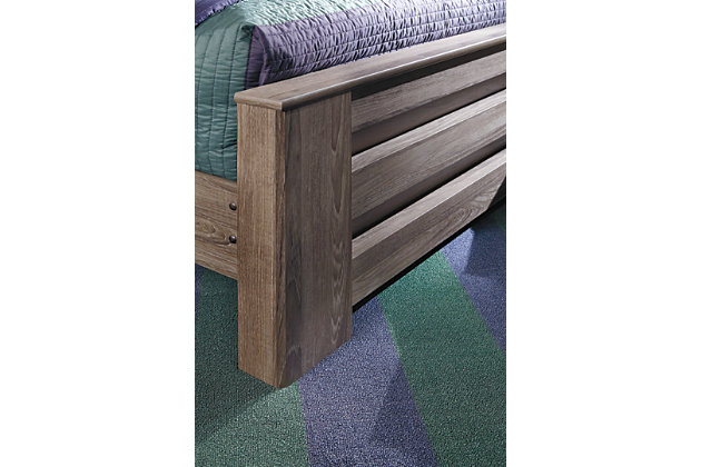 Zelen Queen Panel Bed, Warm Gray, large