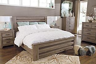 Zelen 6-Piece Queen Bedroom, Warm Gray, large
