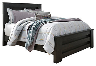 Brinxton Queen Panel Bed, Black, large