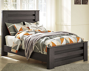 Brinxton Full Panel Bed, Charcoal, rollover