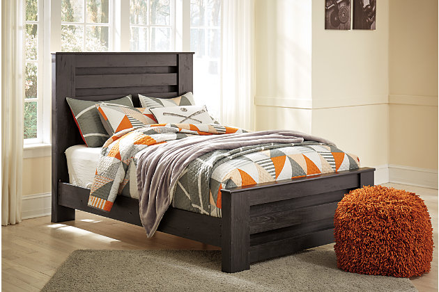 Brinxton Full Panel Bed, Charcoal, large