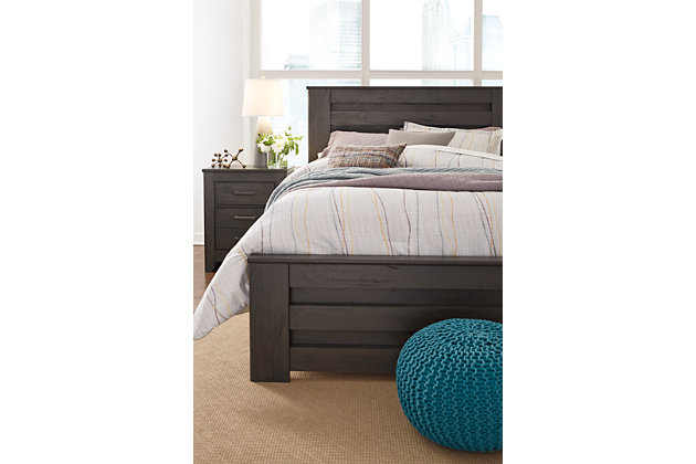 Brinxton Queen Panel Bed, Charcoal, large
