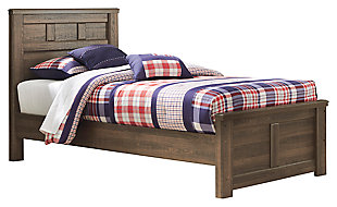 Juararo Twin Panel Bed, Dark Brown, large