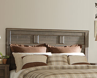 Juararo Queen Panel Headboard, Dark Brown, large