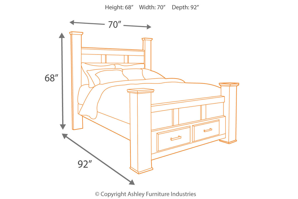 Marvelous Juararo Queen Poster Bed With 2 Storage Drawers Ashley Andrewgaddart Wooden Chair Designs For Living Room Andrewgaddartcom