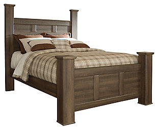 Juararo Queen Poster Bed, Dark Brown, large