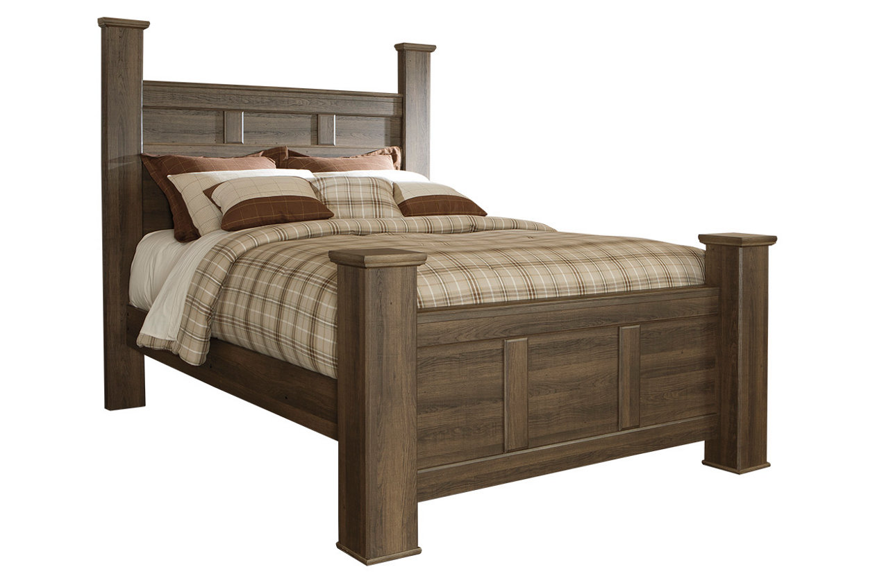 Miraculous Juararo Queen Poster Bed Ashley Furniture Homestore Andrewgaddart Wooden Chair Designs For Living Room Andrewgaddartcom