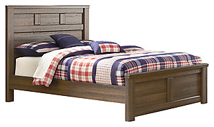 Juararo Full Panel Bed, Dark Brown, large