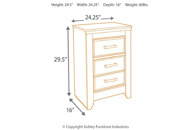 juararo nightstand | ashley furniture homestore