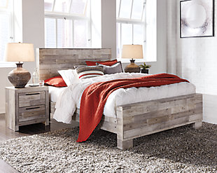 Effie Queen Panel Bed with 2 Nightstands, , rollover