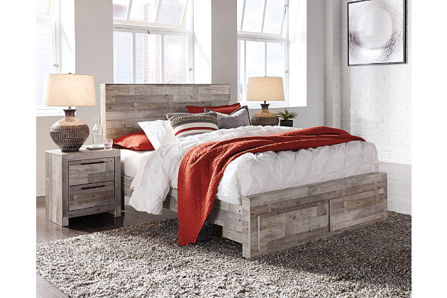 Effie Queen Panel Bed with Storage