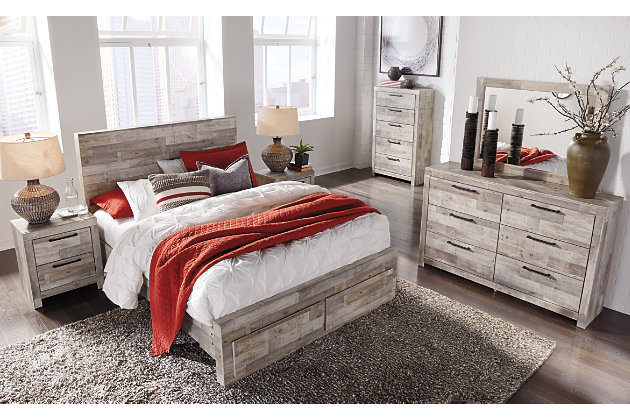 Effie Queen Panel Bed with 2 Storage Drawers | Ashley ...