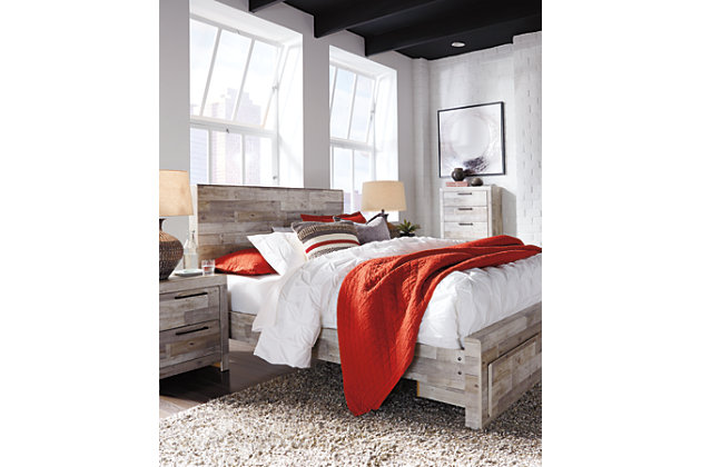 Effie Queen Panel Bed With Storage Ashley Furniture