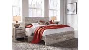 Effie King Panel Bed with Storage, Whitewash, rollover