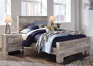 Effie Full Panel Bed with Nightstand, , rollover