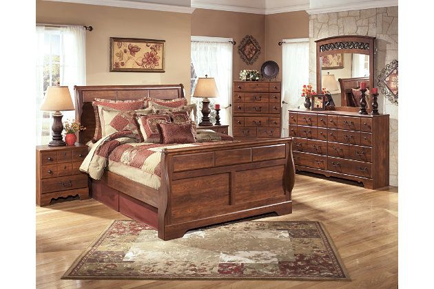 Timberline Queen Sleigh Bed, , large
