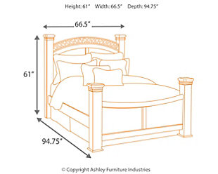 Timberline Queen Poster Bed, Warm Brown, large