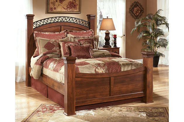 Timberline Queen Poster Bed Ashley Furniture Homestore