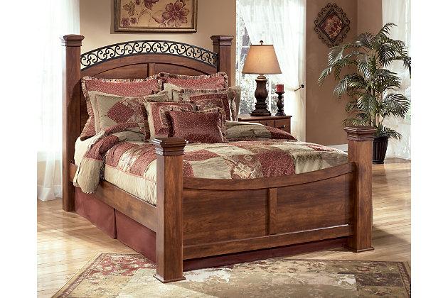 timberline queen poster bed ashley furniture homestore. Black Bedroom Furniture Sets. Home Design Ideas