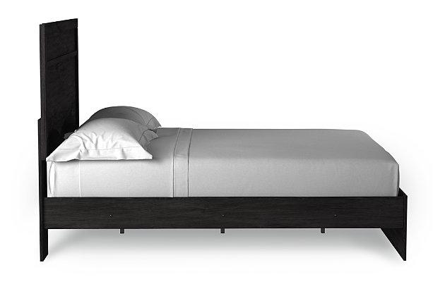 Belachime Queen Panel Bed, Black, large
