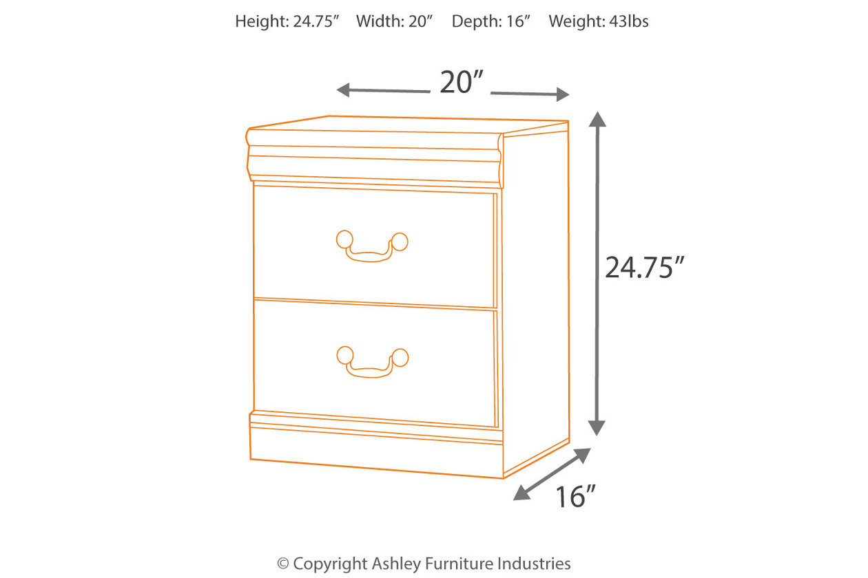 Vachel Nightstand Dark Brown B264-92 Ashley Furniture Signature Design