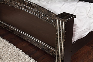 Vachel Queen Poster Bed, Dark Brown, large