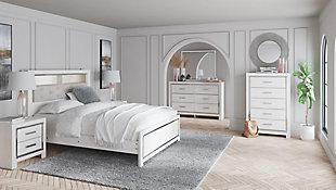 Altyra Queen Panel Bookcase Bed with Mirrored Dresser, , rollover