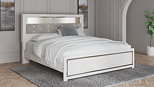Altyra King Panel Bookcase Bed, White, rollover