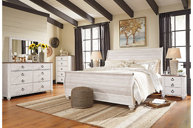 Willowton King Sleigh Bed Ashley Furniture Homestore
