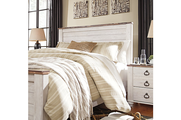 Willowton Queen/Full Panel Headboard, Whitewash, large
