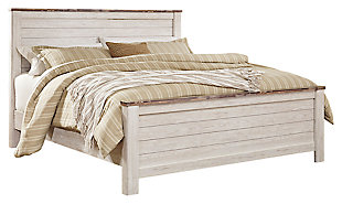 Willowton California King Panel Bed, Whitewash, large