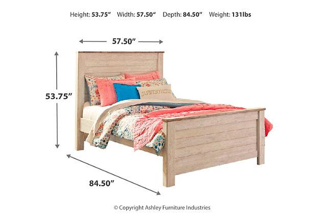 Willowton Full Panel Bed, Whitewash, large