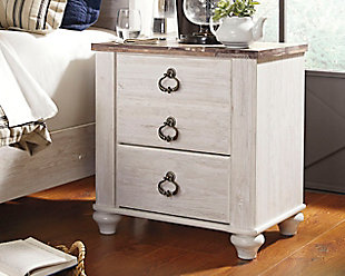 Willowton Nightstand, Two-tone, rollover