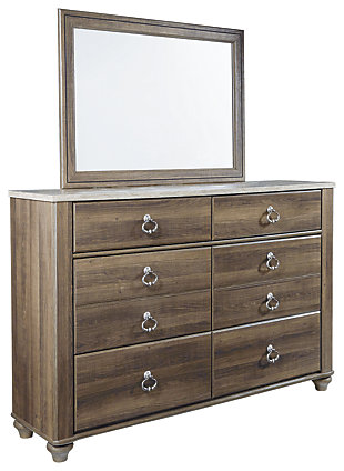 Willowton Dresser and Mirror, Brown, large
